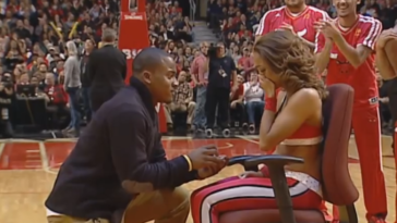 Chicago Bulls Cheerleader Surprised With Marriage Proposal During Game