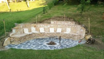 Man Builds Amazing Fire Pit In Back Yard Where A Big Dirt Mound Used To Be