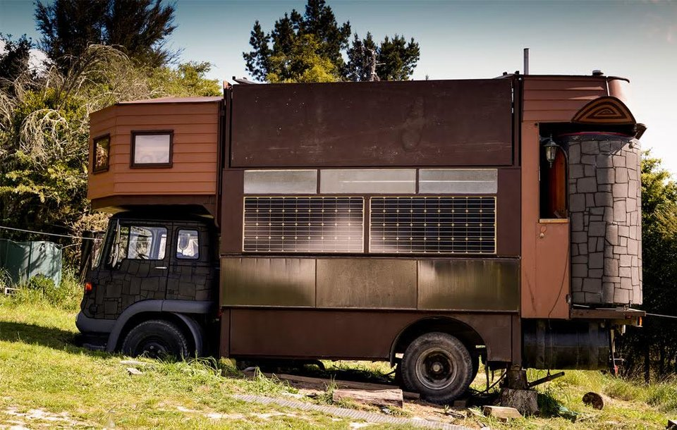 Family Modifies Their Truck So It Can Transform Into A Castle
