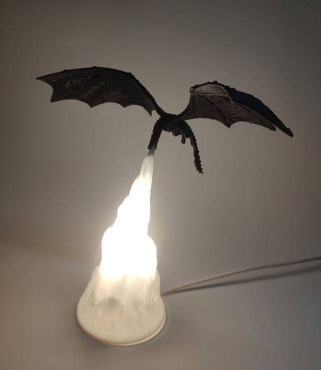 You Can Buy An Epic 'Game of Thrones' Lamp That Looks Like A Dragon Breathing Fire