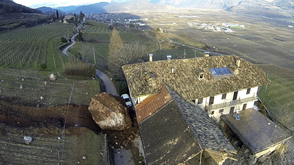 Massive Boulder In Italy Destroys A 300-Year-Old Home