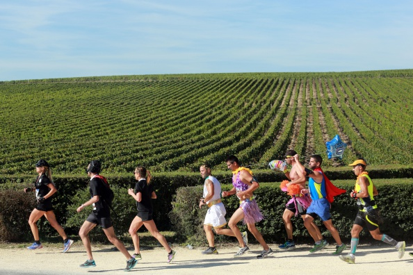 There's a Marathon In France Where The Runners Drink Wine During The Race