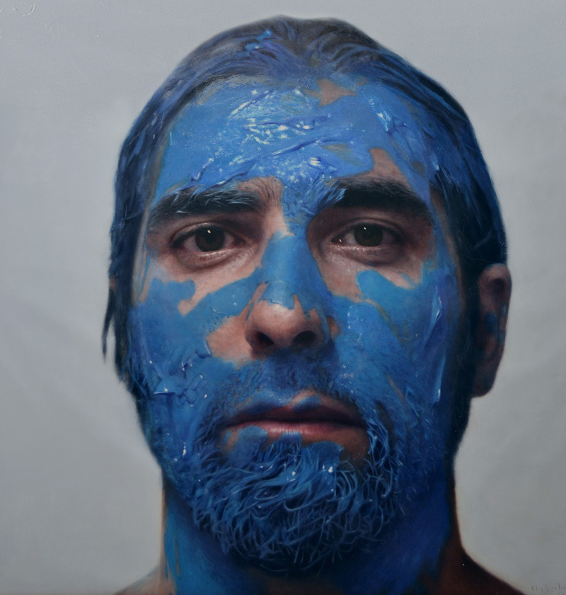 Man Paints Realistic Portraits Of Humans With Paint On Them That Look Like Real Photos