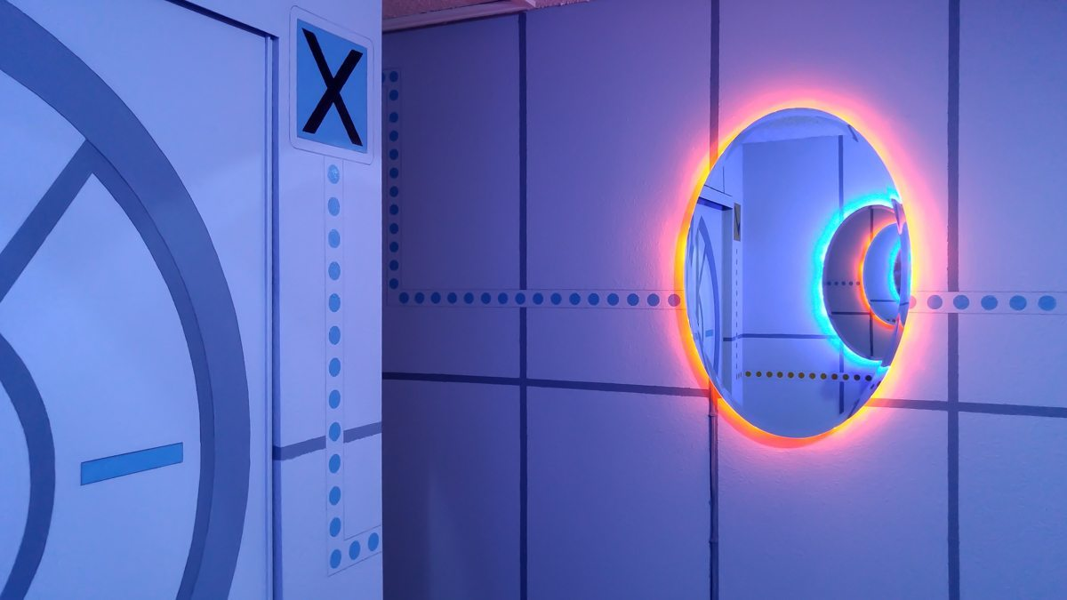 Dad Transforms His Son's Bedroom Into The Ultimate Portal Themed Room