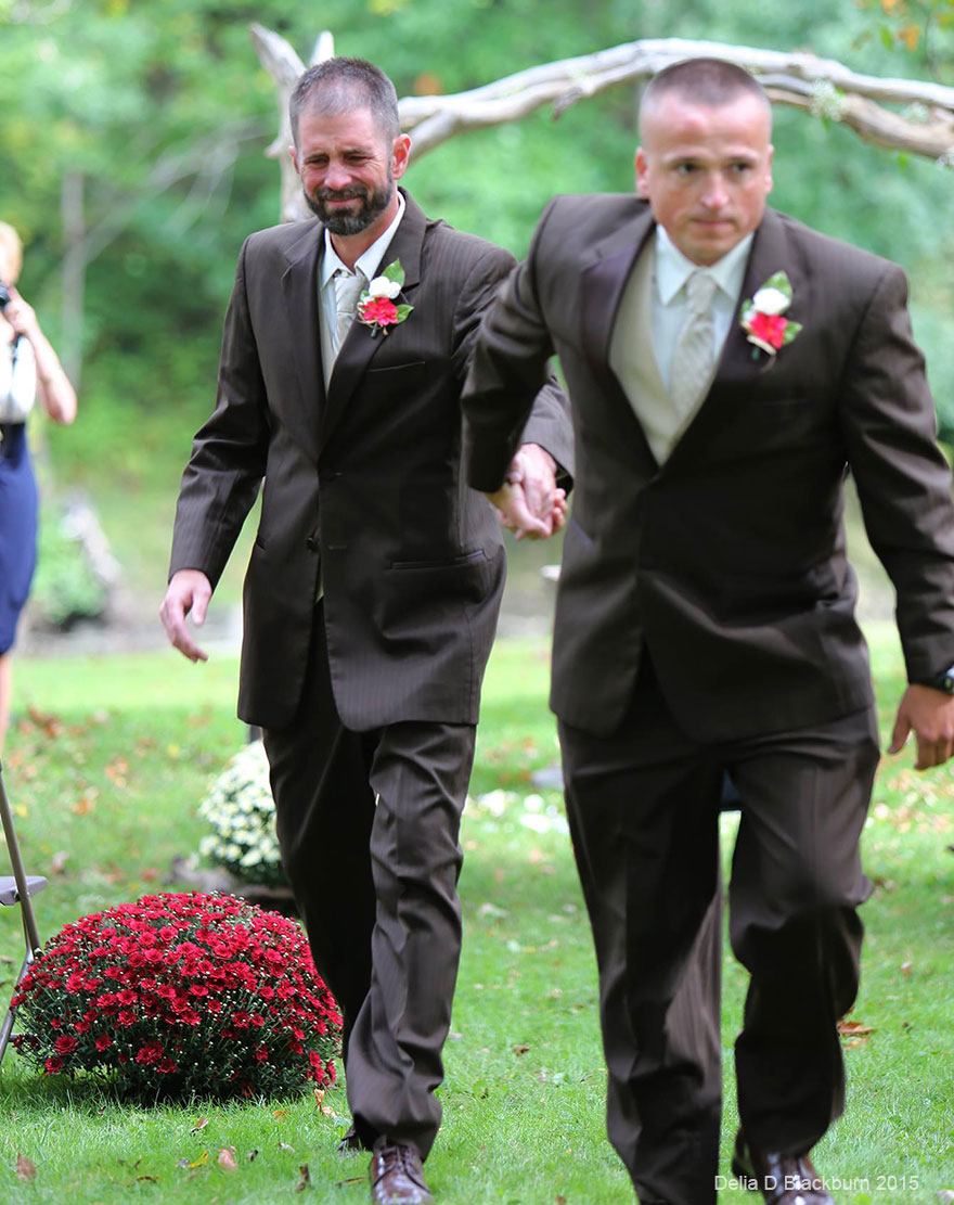Father Of Bride Stops Wedding So Stepdad Can Walk Down The Aisle Too