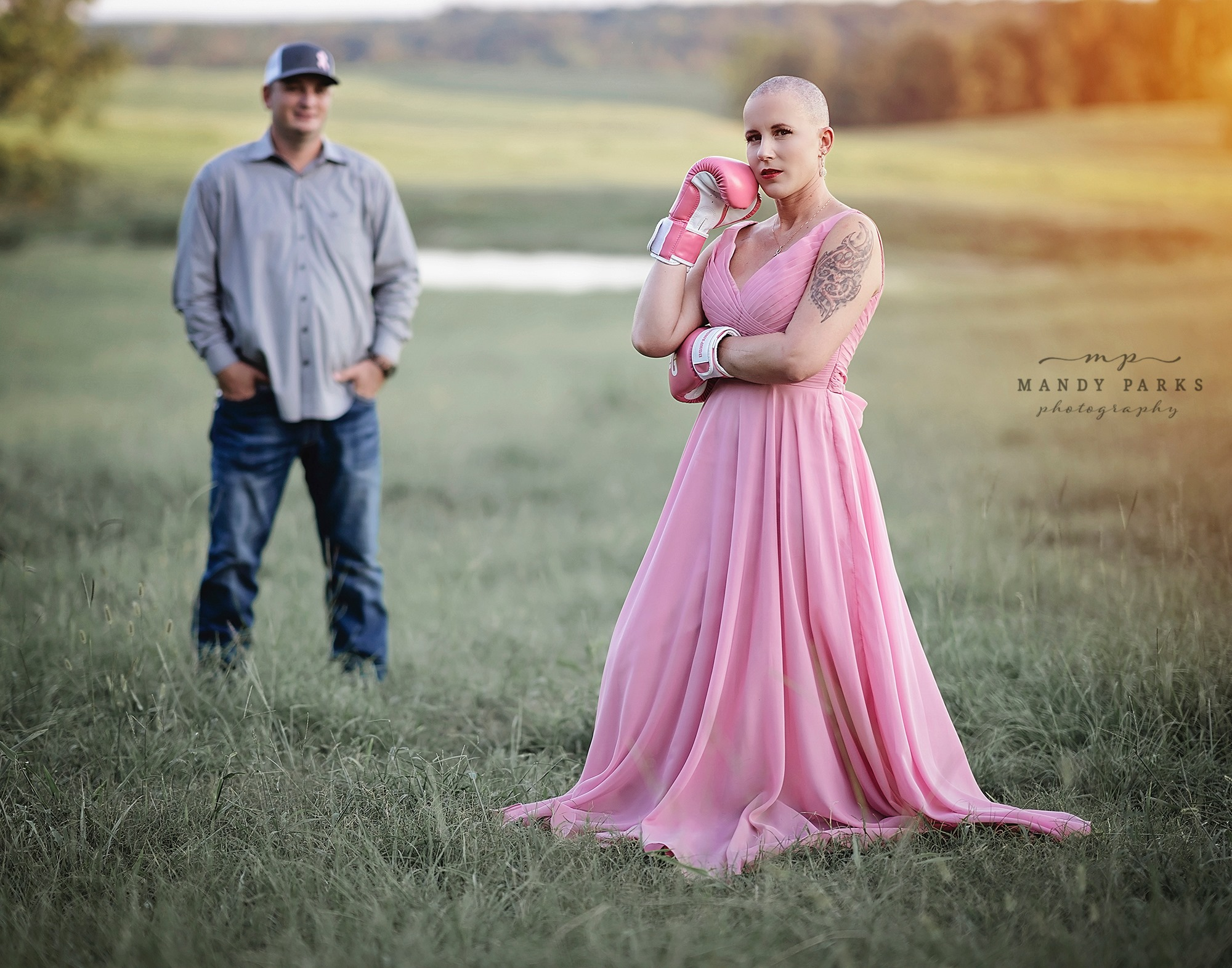 Husband Shaves His Wife's Hair As She Prepares To Fight Breast Cancer In Raw Photoshoot