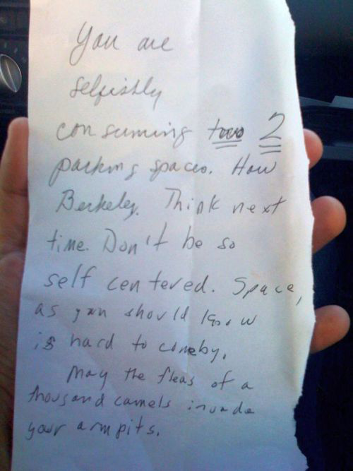 25 Of The Best Windshield Notes Left For Terrible Drivers