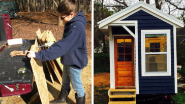 14-Year-Old Builds A Memorial Tiny House After Her Dad Dies With Skills He Taught Her When He Was Alive