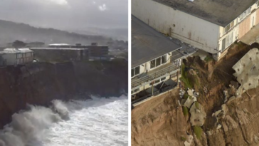 11 Pics Showing The California Coast Disappearing Under The Rising Sea