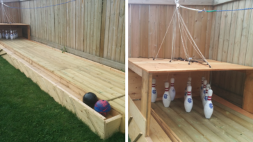 Man Livens Up His Backyard By Installing A Bowling Alley