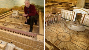 Retired Farmer Spends 30 Years Building Massive Model Of Herod's Biblical Temple
