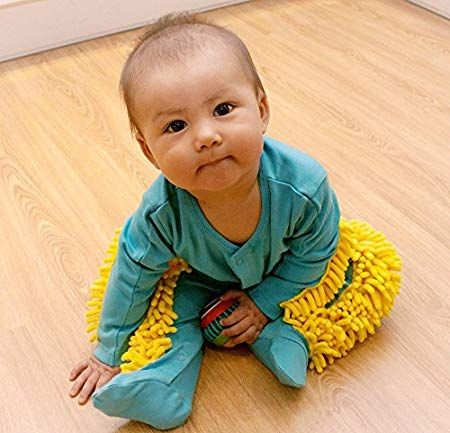 You Can Get A Baby Onesie With A Built-In Mop That Lets Your Little One Clean While They Learn To Crawl