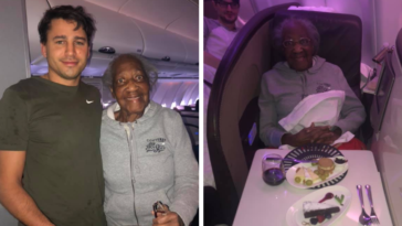 Man Trades First Class Seat For Seat Next To Toilet With 88-Year-Old Woman To Make Her Dream Come True