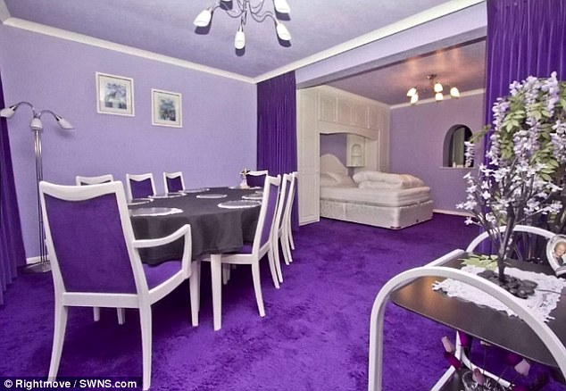 House For Sale Looks Normal From The Outside, Completely Covered In Purple On The Inside