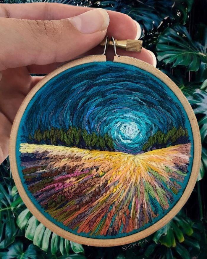 Artist Makes Her Embroidery Look Like Paint And It's Awesome