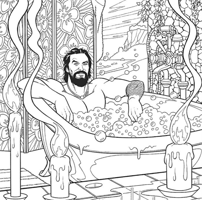 You Can Now Buy A Jason Momoa Coloring Book Because Why Not