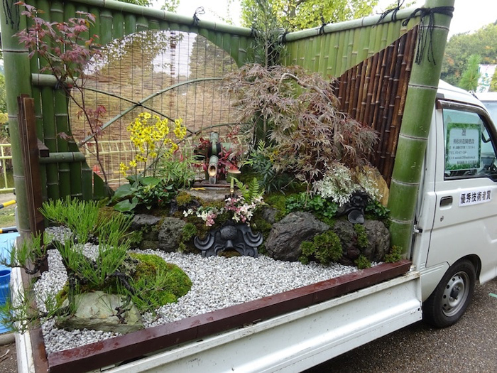 People In Japan Are Converting Their Trucks Into Mobile Enchanting Gardens