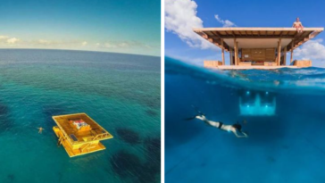 You Can Stay At This Underwater Floating Hotel Room and Sleep With The Fishes
