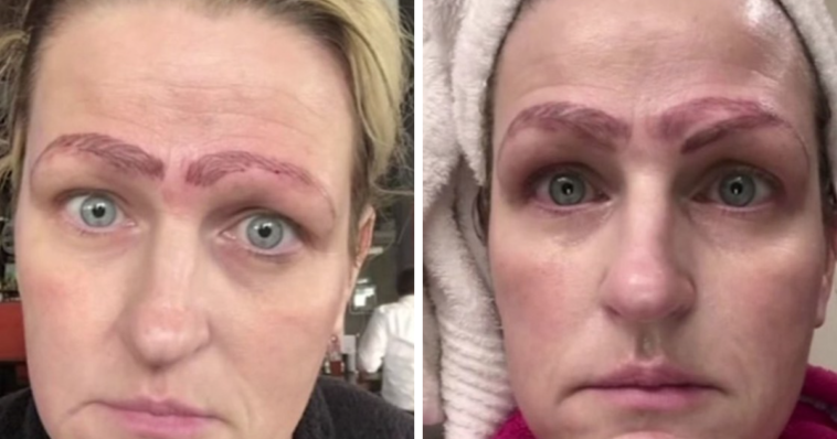 Woman's Microblading Experience Left Her With Four Eyebrows