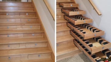 Guy Transforms His Staircase Into Wine Cellar That Can Hold 156 Bottles