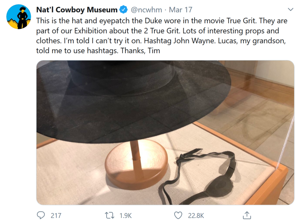The Cowboy Museum Decided To Put Their Head Of Security In Charge Of Their Twitter And His Tweets Are Hilarious
